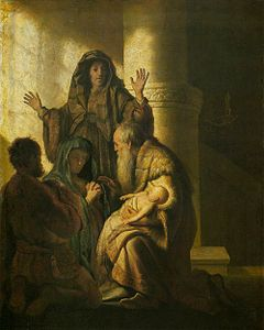 Rembrandt - Simeon and Anna Recognize the Lord in Jesus - WGA19102