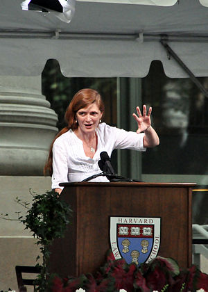 English: Samantha Power Harvard Law Class Day 2010