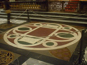 The floor tomb of Cosimo de' Medici in San Lor...