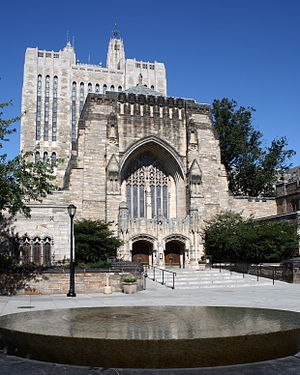 Yale University's Sterling Memorial Library, a...