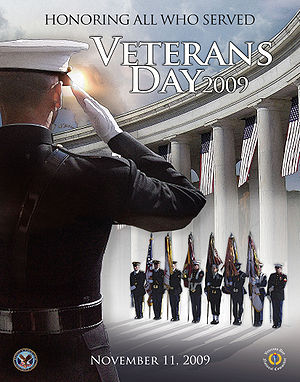 Veterans Day poster issued by the U.S. Departm...