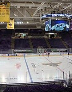The verizon center inside before  hockey game event also mankato civic wikipedia rh enpedia