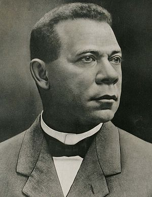 English: Booker T. Washington in a poster in 1911.
