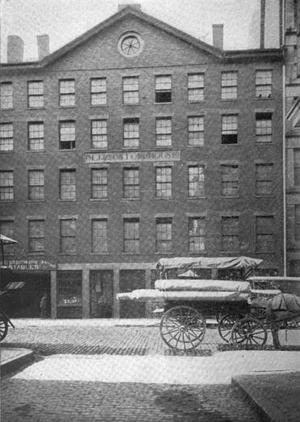 Custom House Street, Boston, Massachusetts. Bu...