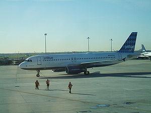 JetBlue plane at JFK