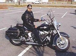 Une Harley et son biker