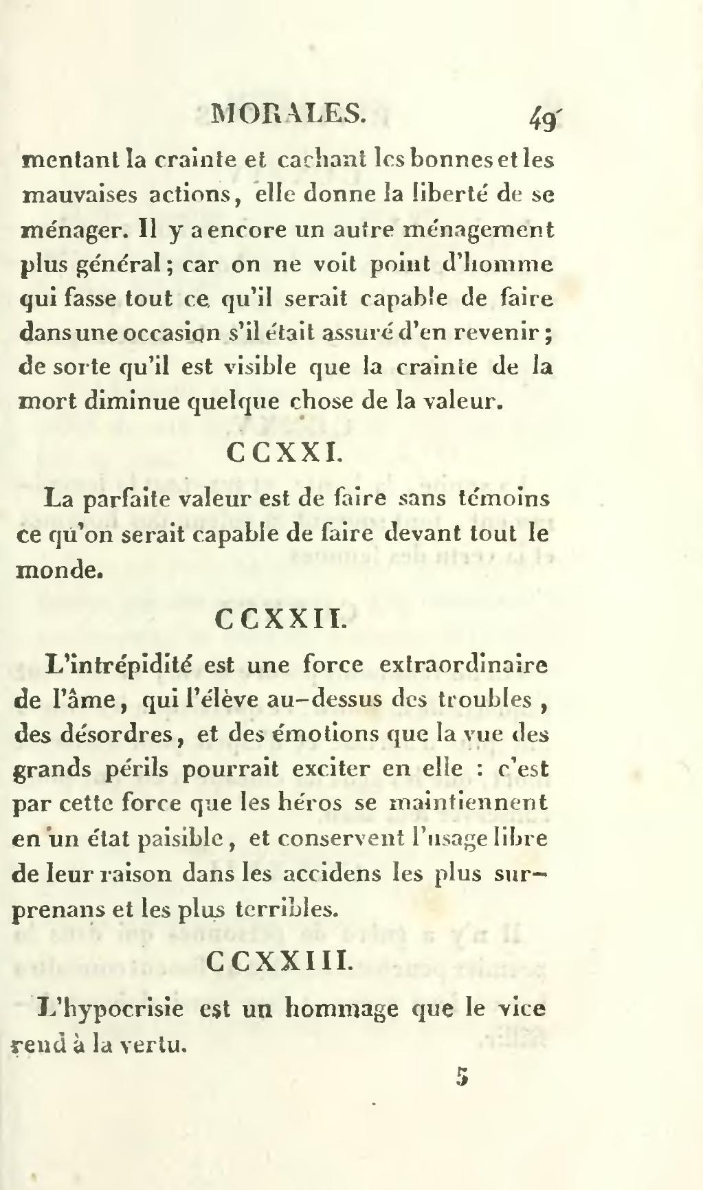 L'hypocrisie Est Un Hommage Que Le Vice Rend à La Vertu : l'hypocrisie, hommage, vertu, Page:La, Rochefoucauld, Maximes, Réflexions, Morales,, Ménard,, 1817.djvu/85, Wikisource