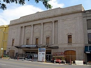 The historic Lerner Theatre in Elkhart, Indian...