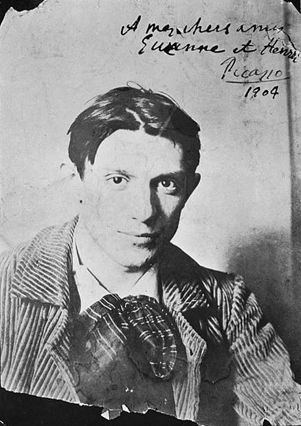 Pablo Picasso, 1904, Paris, photograph by Ricard Canals i Llambí