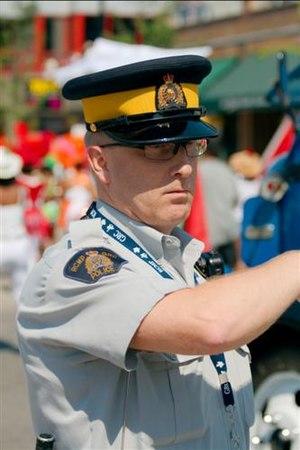 English: RCMP officer in regular uniform