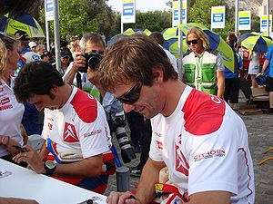 Sebastien Loeb (CITROEN TOTAL WRT) at the 2008...