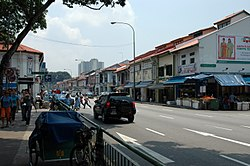 Shophouses in Little India