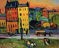 Kandinsky painting of houses