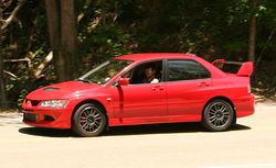 2005 Mitsubishi Lancer Evolution MR edition at Deal's Gap, North Carolina