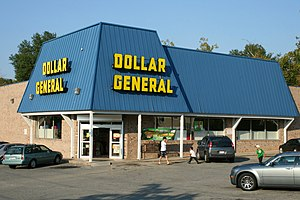 Dollar General variety shop at 800 Broad Stree...