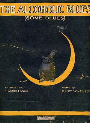 """The Alcoholic Blues"" sheet music co..."