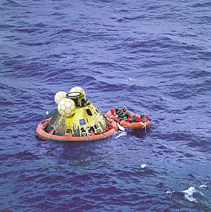 Apollo 11 Crew in Raft before Recovery - GPN-2...