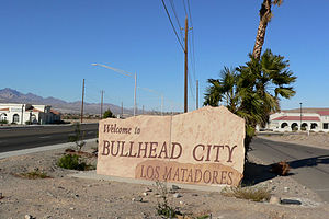 Sign for Bullhead City, Arizona