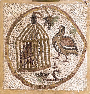 In Byzantine iconography, the bird in the cage...