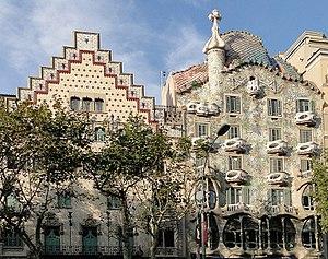 Casa Amatller and Casa Batlló on Passeig de Gr...