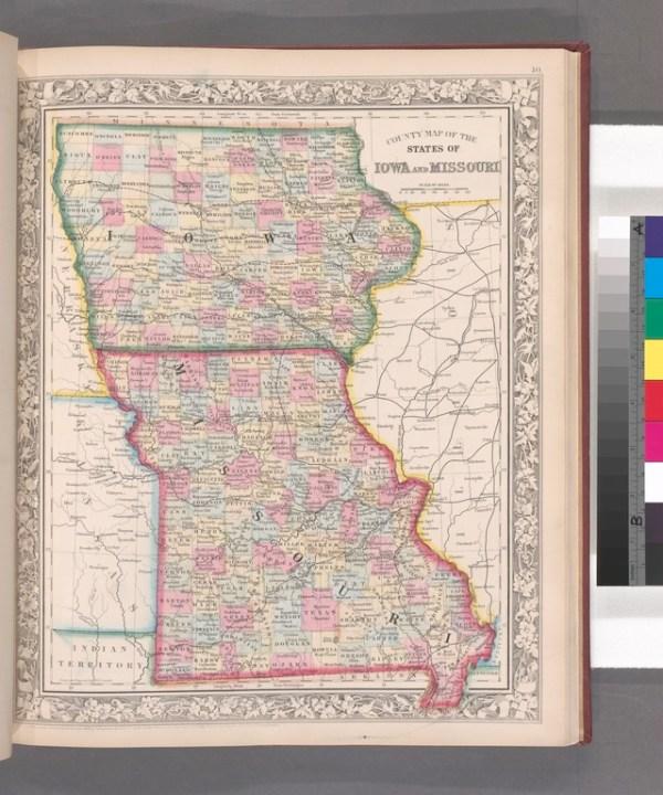 FileCounty map of the States of Iowa and Missouri