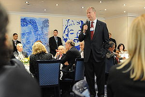 David Gergen at the 2008 World Economic Forum.