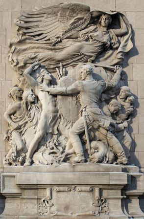 Image result for 1812 –The Battle of Fort Dearborn is fought between United States troops & Potawatomi at what is now Chicago