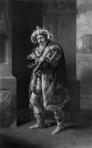 Edmund Kean (1787-1833) as Richard III. Engrav...