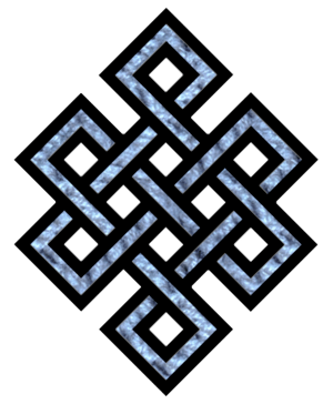 Tibetan endless knot Nederlands: Tibetaanse On...
