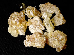Frankincense I bought in Yemen on 15/Jul/2005.