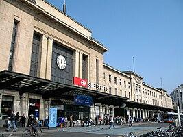 Haupteingang des Genfer Hauptbahnhofs Cornavin