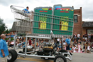 English: Jewel-Osco - monster shopping cart truck