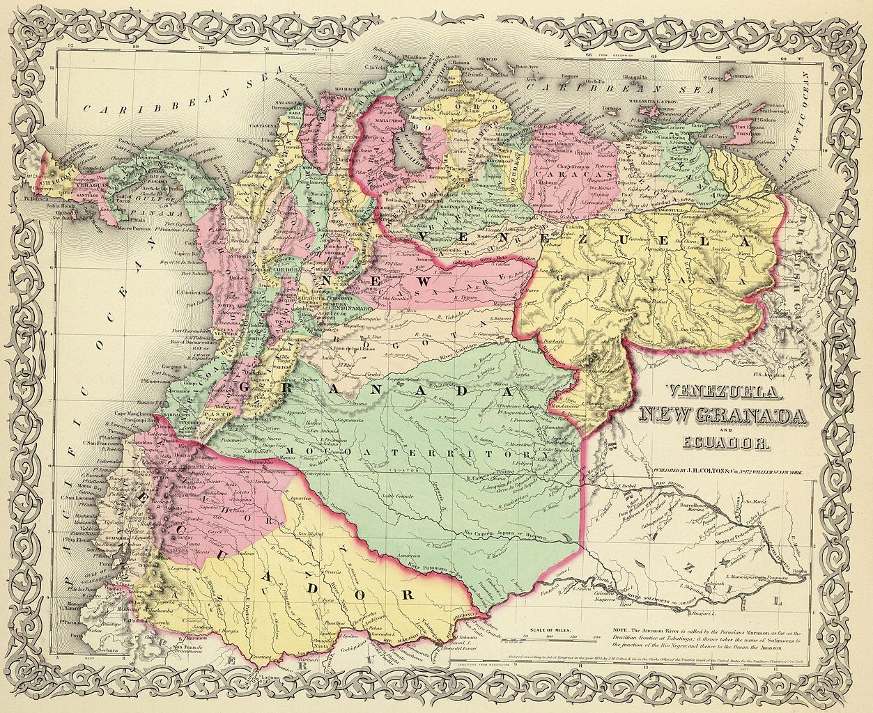 FileMap Of Venezuela New Granada And Ecuador 1855jpg