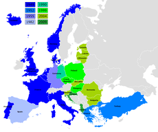 Current membership of NATO in Europe.