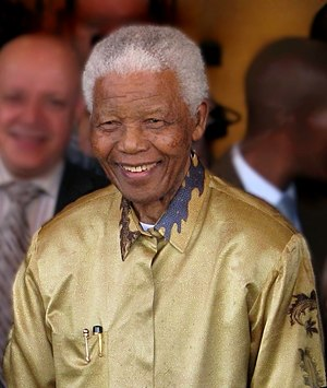 Nelson Mandela in Johannesburg, Gauteng, on 13...