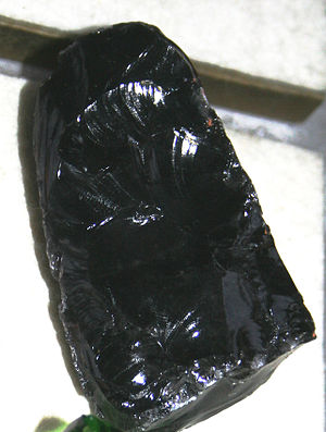 Vulcanic glass obsidian from collection of Nat...