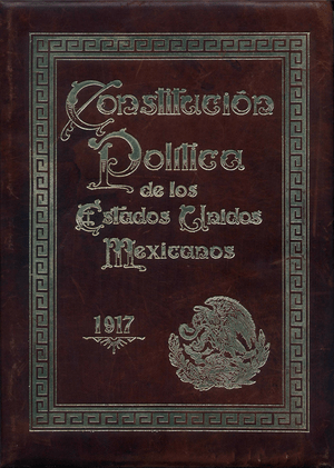 Original Cover of the Political Constitution o...