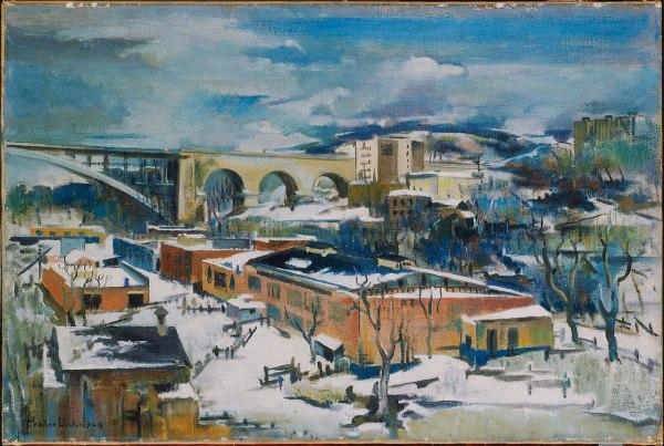 File Preston Dickinson - Winter Harlem River Google Art Wikimedia Commons