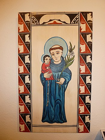 English: St. Anthony of Padua at the Indian Pu...