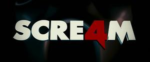 English: Logo of Scream 4 movie