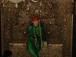 English: Picture of Shirdi Sai Baba who was a ...