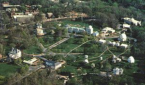 Aerial view of the U.S. Naval Observatory.