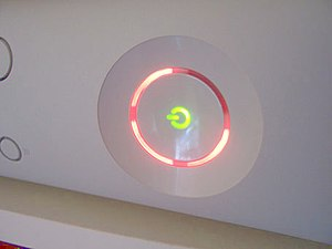 An Xbox 360 showing the Ring of Death.