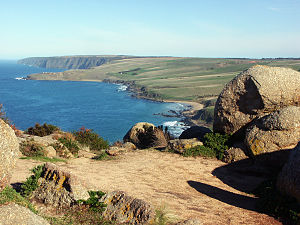 View west from bluff at Victor Harbor, South A...