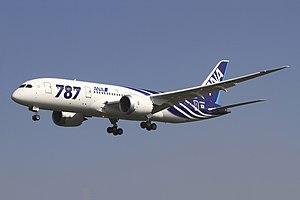 All Nippon Airways Boeing 787-8 Dreamliner JA801A OKJ in flight.jpg
