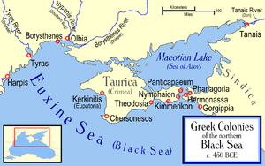 Borysthenes and other Greek colonies along the...