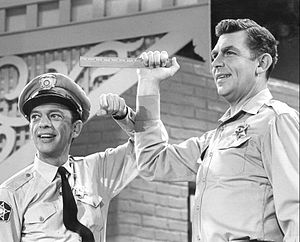 Publicity photo of Andy Griffith and Don Knott...