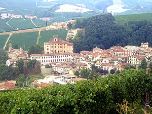 English: Barolo, Piedmont, Italy - the village...