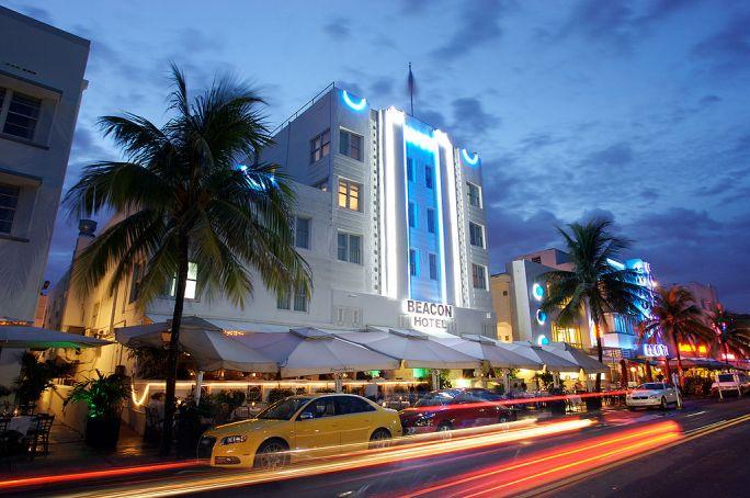 Beacon Hotel at Night