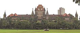 The Oval Maidan is situated in front of the Bombay High Court.